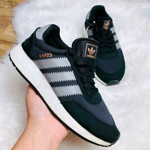 New Adidas I-5923 Core Black Grey Three Sneakers